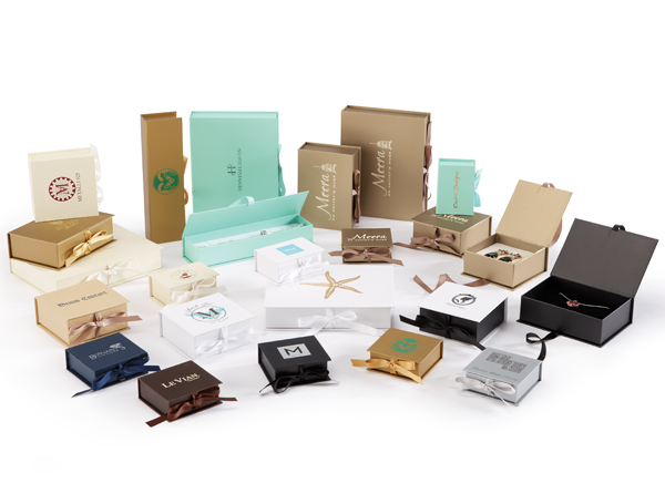 Luxe Ribbon Jewelry Boxes The Premier Line Promotional Packaging